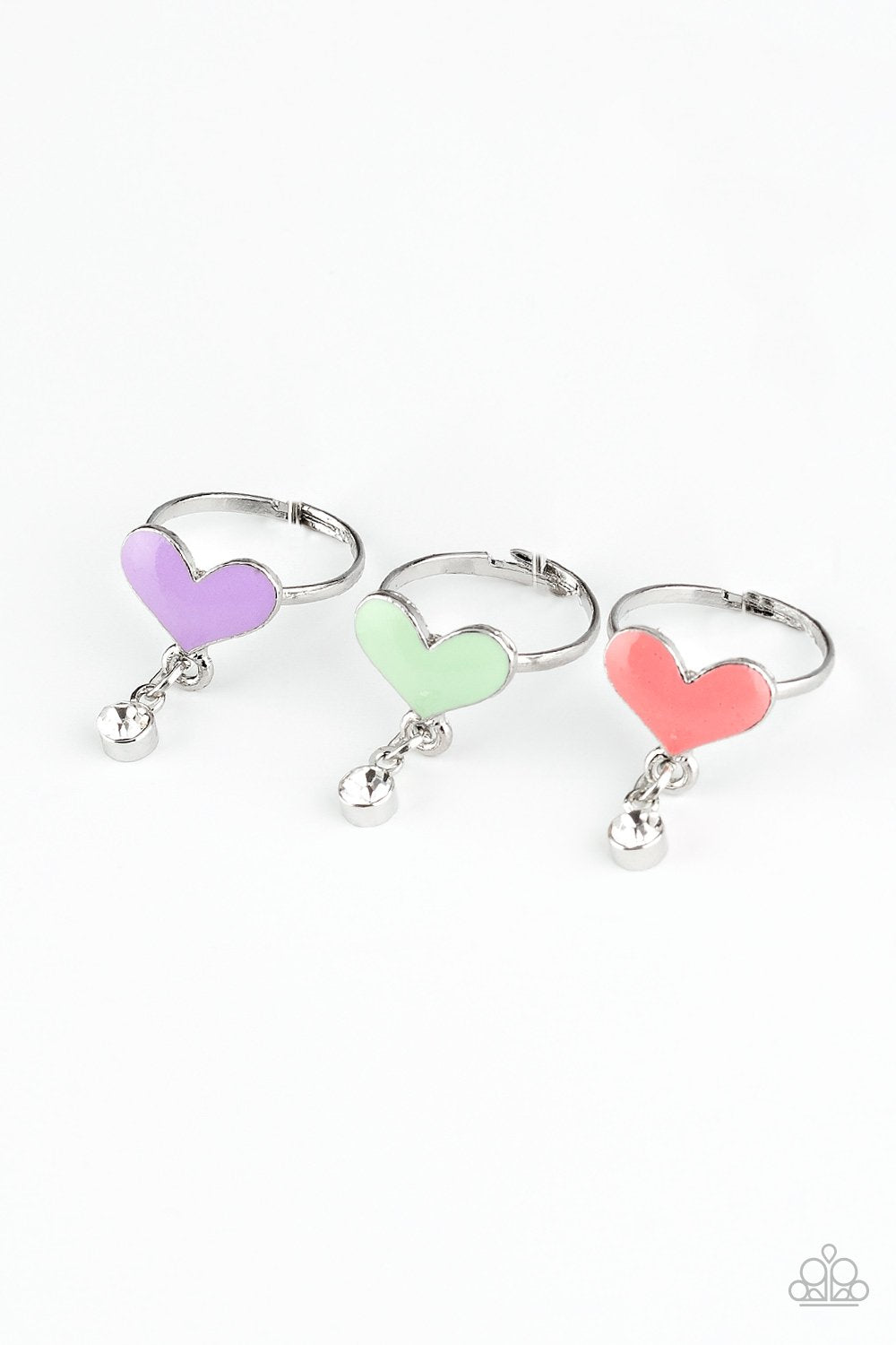 Paparazzi Starlet Shimmer Color Heart Charm Ring - Bling It On Online