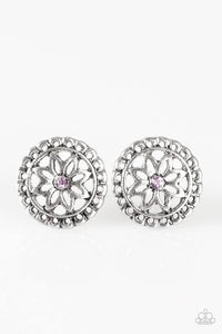 Paparazzi Starlet Shimmer Rhinestone Floral Earring - Bling It On Online