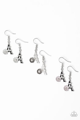 Paparazzi Starlet Shimmer Flower Eiffel Tower Earring - Bling It On Online
