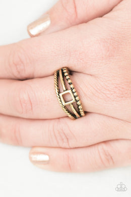 Paparazzi A Square Deal - Brass Ring - Bling It On Online