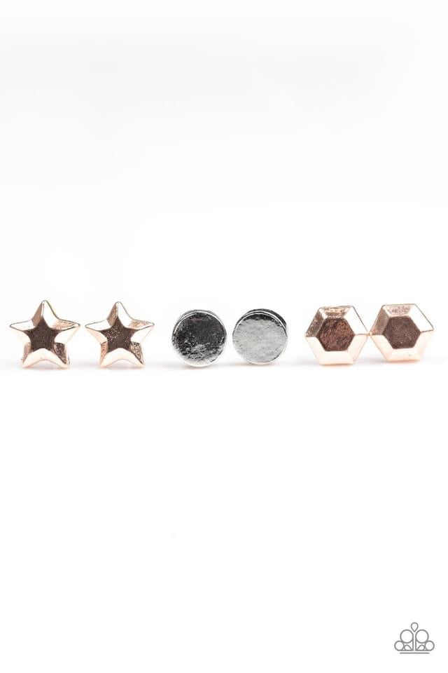 Paparazzi Starlet Shimmer Faceted Shape Earring