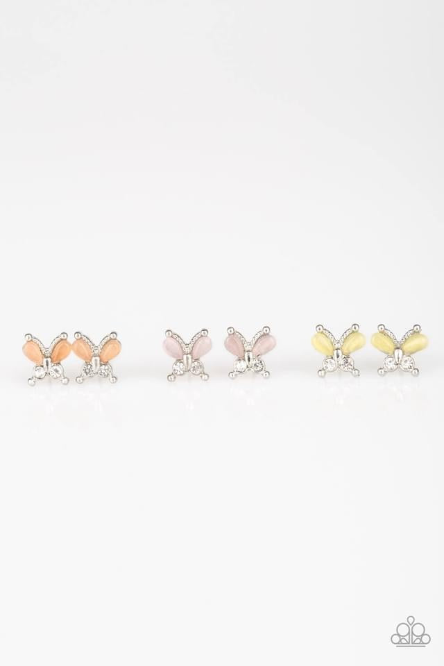 Paparazzi Starlet Shimmer Moonstone Butterfly Earring