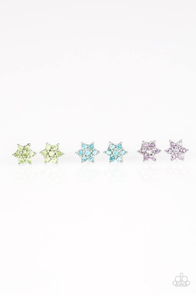 Paparazzi Starlet Shimmer Dainty Flower Earring - Bling It On Online