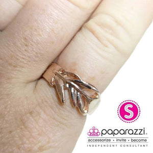 Paparazzi BRIGHT As a Feather - Rose Gold - Bling It On Online
