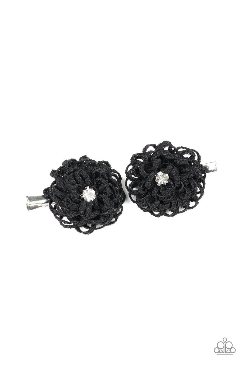 Paparazzi Peppy In Petunias - Black - Bling It On Online