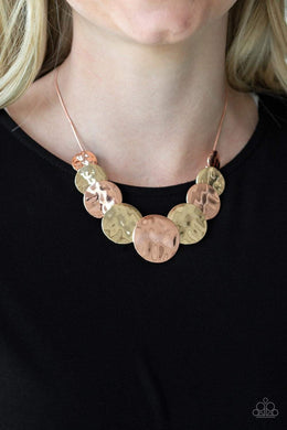 Paparazzi A Daring DISCovery - Copper Necklace - Bling It On Online