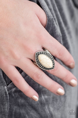 Paparazzi Aiming For Amazon - White - Ring - Bling It On Online