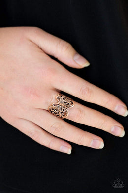 Paparazzi All Aflutter - Copper Ring - Bling It On Online