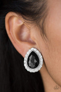 Paparazzi All HAUTE and Bothered - Black Earrings - Bling It On Online