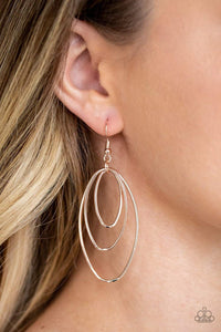 Paparazzi All OVAL The Place - Rose Gold Earrings - Bling It On Online
