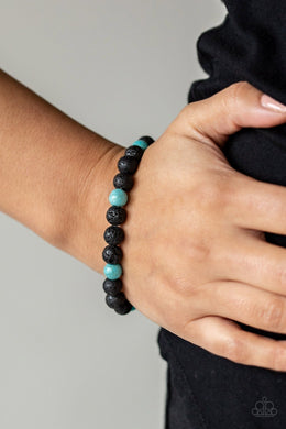 Paparazzi All Zen - Blue Urban Bracelet - Bling It On Online