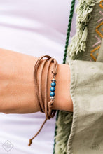 Load image into Gallery viewer, Paparazzi Always Up for Adventure - Brown Suede Blue Bead Bracelet - Bling It On Online