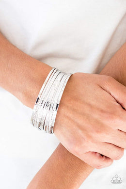 Paparazzi Am I BRIGHT? - Silver Bracelets - Bling It On Online