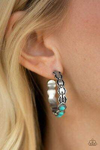 Paparazzi Anasazi Arrow - Blue Earrings - Bling It On Online