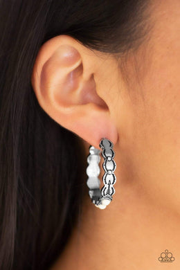 Paparazzi Anasazi Arrow - White Earrings - Bling It On Online