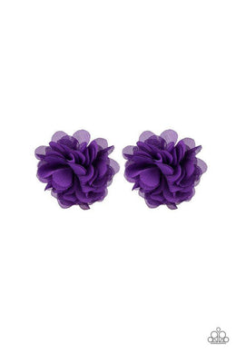 Paparazzi Basket Full Of Posies - Purple Chiffon Airy Petal Blossom Hair Clip - Bling It On Online