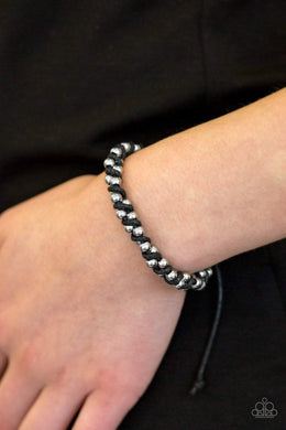 Paparazzi Beaded Bandit - Black Urban Bracelet - Bling It On Online