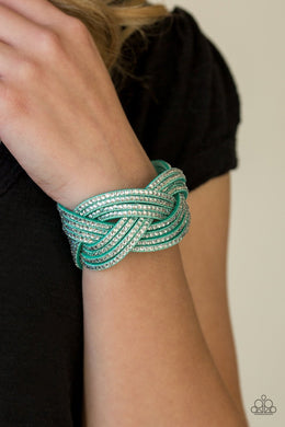 Paparazzi Big City Shimmer - Green Bracelet - Bling It On Online