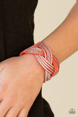 Paparazzi Big City Shimmer - Coral Bracelet - Bling It On Online