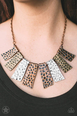 Paparazzi Blockbuster A Fan of the Tribe - Copper - Necklace - Bling It On Online