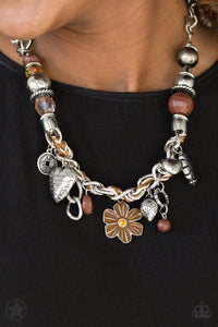 Paparazzi Blockbuster Charmed, I Am Sure - Brown - Necklace - Bling It On Online