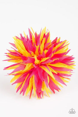 Paparazzi Blooming Beaches - Yellow and Pink Petal Blossom Hair Clip - Bling It On Online