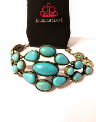 Paparazzi Blooming Prairies - Brass Bracelet - Bling It On Online