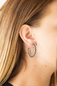 Paparazzi Bohemian Bliss - Silver Earrings - Bling It On Online