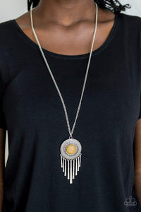 Paparazzi Bon VOYAGER - Yellow Necklace - Bling It On Online