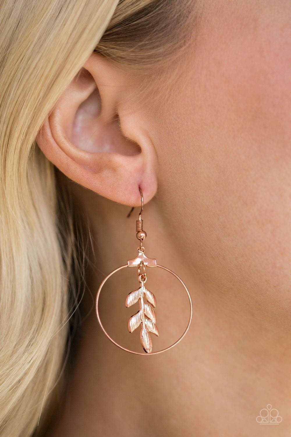 Paparazzi Branching Into Boho - Copper - Earrings - Bling It On Online
