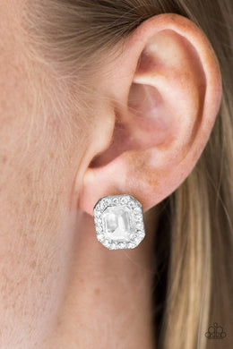 Paparazzi Bride Squad - White Earrings - Bling It On Online
