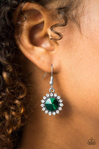Paparazzi Bring In The BEAM Team - Green Earrings - Bling It On Online