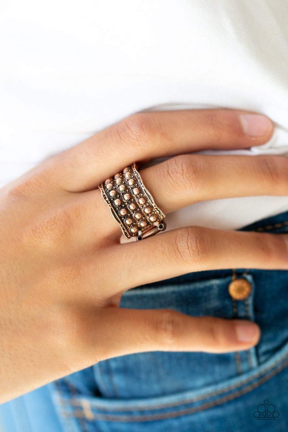 Paparazzi Call To Arms - Copper Ring - Bling It On Online