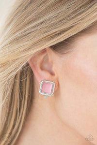 Paparazzi Cinderella Chic - Pink Earrings - Bling It On Online