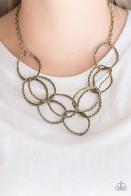 Paparazzi Circus Royale - Brass Necklace - Bling It On Online