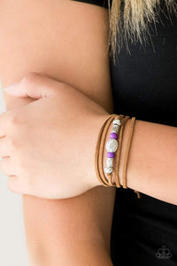 Paparazzi Clear A Path - Purple Bracelet - Bling It On Online