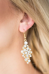 Paparazzi Cosmically Chic - Gold Earrings - Bling It On Online
