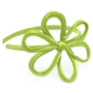 Paparazzi Daisies For Days - Green Satin Daisy Headband - Bling It On Online