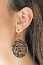 Load image into Gallery viewer, Paparazzi Dandelion Deserts - Floral Brass Earrings - Bling It On Online