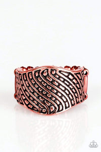 Paparazzi Desert Waves - Copper Ring - Bling It On Online