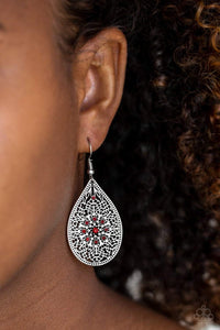 Paparazzi Dinner Party Posh - Red Earrings - Bling It On Online