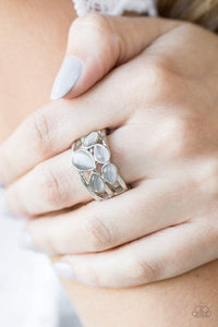 Paparazzi Dreamy Glow - Smoky Teardrop Moonstone Silver Ring - Bling It On Online