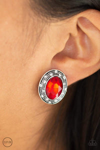 Paparazzi East Side Etiquette - Red Earrings - Bling It On Online