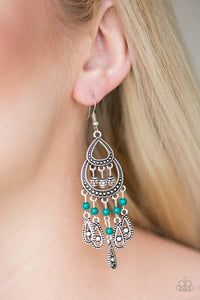 Paparazzi Eastern Excursion - Green  Earrings - Bling It On Online