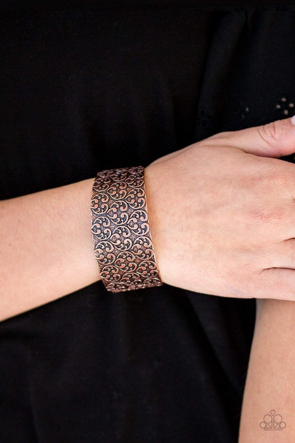 Paparazzi Eat Your Heart Out - Copper - Cuff - Bracelet - Bling It On Online