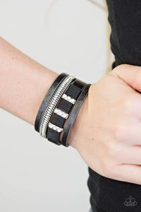 Paparazzi FAME Night - Black Bracelet - Bling It On Online