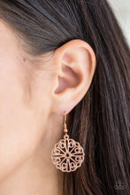 Load image into Gallery viewer, Paparazzi Feeling Frilly - Copper - Earrings - Bling It On Online