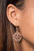 Load image into Gallery viewer, Paparazzi Feeling Frilly - Rose Gold Filigree Swirl Earrings - Bling It On Online