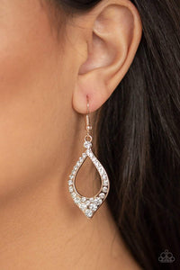 Paparazzi Finest First Lady - Rose Gold Earrings - Bling It On Online