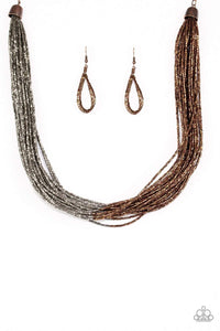 Paparazzi Flashy Fashion - Copper Necklace - Bling It On Online
